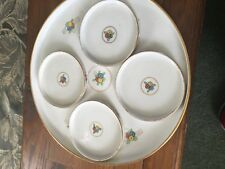 Royal Rudolstadt Prussia FLORAL TRAY & DISH SET Beyer & Bock 5 PIECES