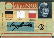 2006 TERRY BRADSHAW National Treasures HOF Greatness Shoe Patch Autograph 8/22