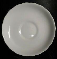 Tuscan plain white china saucer.