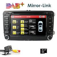 7'' 2 DIN Car Stereo DVD Player Radio GPS Camera BD For VW Passat Golf MK5 6 T5