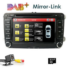 "7"" VW Golf Mk5 Mk6 Car Radio Stereo DVD SatNav GPS Multimedia BT 2DIN Head unit"
