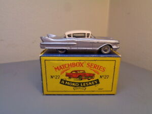 MATCHBOX MOKO LESNEY No 27C VINTAGE CADILLAC SIXTY SPECIAL VG IN BOX