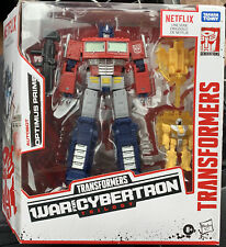 Transformers War for Cybertron Series-Inspired Voyager Optimus Prime Battle...