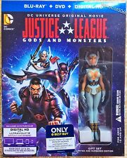 Justice League: Gods And Monsters Figurine + Blu-ray + Dvd + Uv Hd Copy