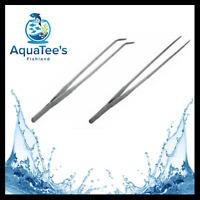 Stainless Steel Aquarium Fish Tank Aquascape Plant Tweezers Scissors Tools Nano
