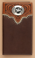 Spur ROWEL Concho ~Rodeo WALLET~ BLACK Leather ~ Tony Lama® ~ Cowboy 5171601 16