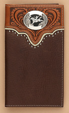 SADDLE BRONC Concho ~Rodeo WALLET~  Tony Lama® ~ Bucking Horse/Cowboy/Leather