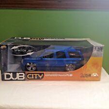 BRAND NEW JADA DUB CITY BIG BALLERS 2003 CADILLAC ESCALADE SUV BLUE 1:18 SCALE