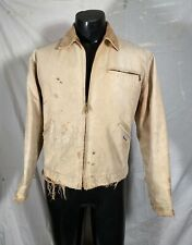 Vintage 1990s Men's Carhartt Detroit Duck Jacket Blanket Lined - Distressed M