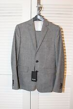 Dsquared2 Paris Fit Prince of Wales Black/White Wool Suit 34S $1895 ITALY NWT