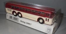 Brekina 59421  Büssing 12000 T Bus _ rubinrot/helelfenbein  _  H3333
