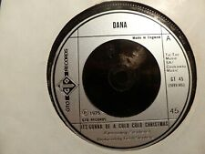 """DANA ITS GONNA BE A COLD COLD CHRISTMAS 1975 UK 7"""" GTO RECORDS GT45 EX"""