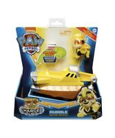 Paw Patrol Mighty Pups Charged Up Rubble's Deluxe Vehicle With Lights And Sounds