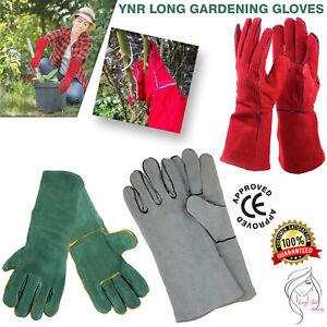 Rose Pruning Gardening Gauntlet Gloves Thorn Proof Industrial Electric Welding
