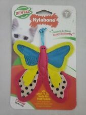 Nylabone Insert-A-Treat Busy Butterfly Cat Toy Dental Health Cleans Teeth