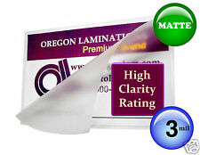 Mattematte Letter Size Hot Laminating Pouches 3 Mil 9 X 115 25pack 9x115