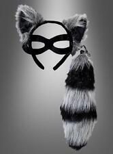 Raccoon Kit - Ears, Tail and Eye Mask