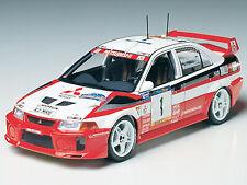 Tamiya 1/24 Mitsubishi Lancer Evo V WRC model kit # 24203