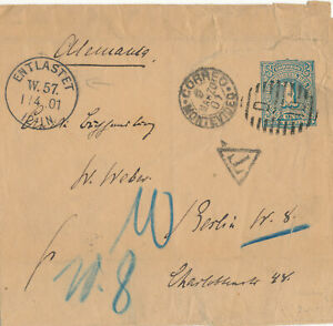 URUGUAY NEWSPAPER WRAPPER # S 2 TO GERMANY POSTAGE DUE (1901)