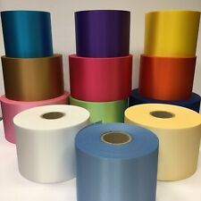 "Extra wide ribbon - 100mm wide satin ribbon 4"" wide Ribbon Pick Colour From List"