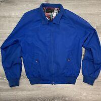 EDDIE BAUER Men's JACKET Vintage Blue Lined Zipper Pockets Coat Size M Medium