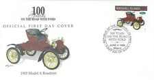 MARSHALL ISLANDS FDC - 1903 MODEL A ROADSTER - CACHETED!