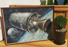 1965 BORMAN LOVELL gemini astronaut renaissance oil painting mcm vtg apollo nasa