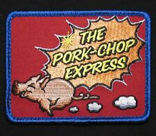 PORK CHOP EXPRESS ARMY MORALE USA ISAF TACTICAL INFIDEL FULL COLOR HOOK PATCH