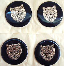 SET OF 4 NEW GENUINE JAGUAR XJS XJ6 WHEEL CENTER BADGE CAC6502