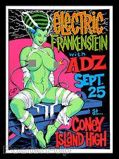 Coop CP98-06 Electric Frankenstein 1998 Silkscreen Poster Sexy Bride Monster Art