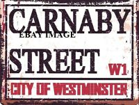 CARNABY STREET METAL SIGN RETRO VINTAGE STYLE SMALL