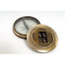 "Brass Desktop Compass, The Beatle Finder 3"" Antiqued Finish Nautical Decor New"