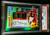 PSA 9 POP 1 KYLER MURRAY RC AUTO /5 SSP ROOKIE PRIZM GREEN 2019 Contenders Optic