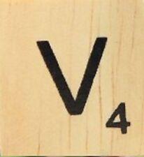 INDIVIDUAL WOOD SCRABBLE TILES! 8 FOR $2, THEN 25 CENTS PER TILE. LETTER V