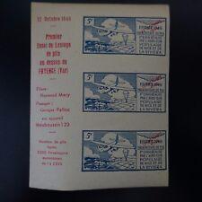 VIGNETTE AVIATION PARACHUTAGE DE PLIS NICE LA RIVIERA FRYENCE 1946 NEUF ** MNH