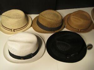 Hat Lot of 5 SCALA Dorfman Pacific straw Fedora Hats LARGE