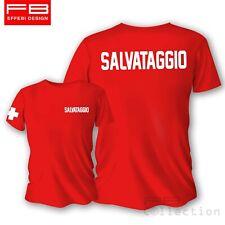 T-Shirt Maglietta SALVATAGGIO LIFEGUARD BAGNINO spiaggia piscina estate vacanze