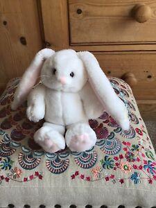 "Vintage 1994 Dakin White Bunny Rabbit Soft Plush Stuffed Animal Toy 8"""