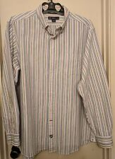 Daniel Cremieux Classics Mens XL Striped Long Sleeve 100% Cotton Shirt