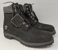 New Timberland x DTLR 6-inch Premium Black Zip Up Boots Mens Size 12 A1Q8E A1740