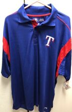 New Texas Rangers Big and Tall TX3 Cool Polo Shirt 3XL Blue/Red