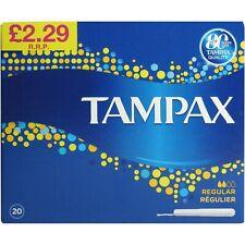 Tampax Cardboard Regular Applicator 20 Pack