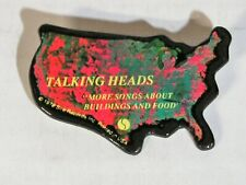 Talking Heads-More Songs About Buildings And Food-Original 1978 Promo Pin!