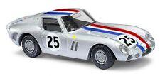 Busch 42617 - 1/87 / H0 Ferrari 250 Gto - Silber Start-Nr. 25 - Neu