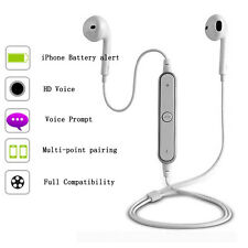 Universal Neckband White Wireless Stereo Bluetooth Headphones Headset
