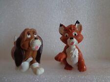 Rare 2 PVC figures Disney The fox and the Hound, Maia Borges Portugal