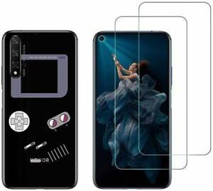 2 films protection écran + Coque fantaisie gel souple pour Huawei Honor 20