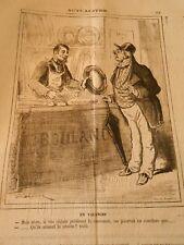 Caricature 1874 - Boulangerie Taxe Vos client préfèrent la couronne