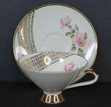 Vintage Mitterteich Bavaria Bone China Tea Cup and Saucer Mint Condition