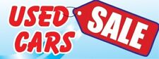 Used Car Sale Vinyl Banner Sign - 3' X 8'